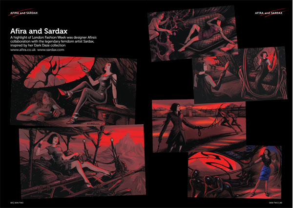 Here is the full page spread from Skin Two.